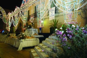 Giurdignano - tavola di San Giuseppe in piazza