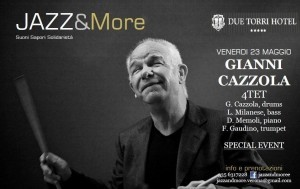 Jazz Concert con Gianni Cazzola, drums a JAZZ&More, suoni sapori solidarietà