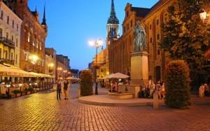 La statua di Copernico a Torun