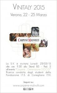Invito Vinitaly Carpenè Malvolti Evento 23-03-15