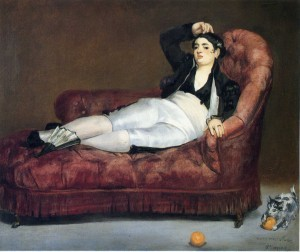 Edouard Manet - Giovane sdraiata 1862 - New Haven University Art Gallery