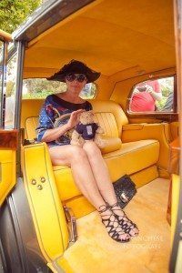 Madame Cris Egger Rolls Royce interni giallo Hermes shoes Duccio Venturi Bottier