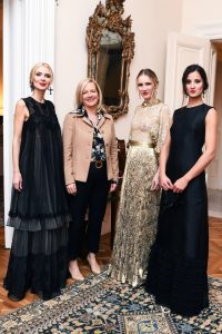 Mrs Karen Lawrence Terracciano and models in outfits Michele Miglionico