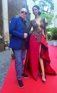 Massimiliano Calandra RAI presenta un abito di Gianni Cirillo Couture(1)
